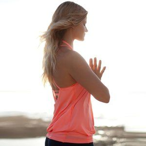 Lululemon Flow And Go Tank II Pop Orange 2
